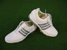 NEW ADIDAS PURE 360 GOLF SHOES (WHITE-SILVER-SLIME) ADIDAS PURE 360 SHOES NEW