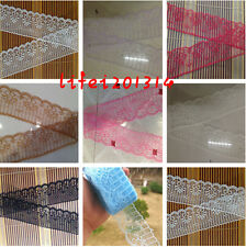 Cute! 10 yards net lace ribbon embroidery craft 8 color choice