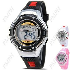 Digital Cold-Light Chronograph Sport Watch with Alarm  for Kids
