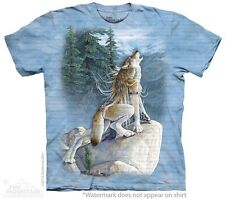 Heart Song T-Shirt by The Mountain. Spirit Wolf Native American Pow Wow S-5XL