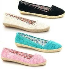 Vendita-Sandali Donna Spot On Casual Uncinetto Stile Espadrille Scarpe Dolly F2196