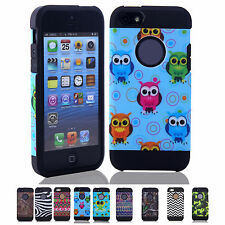 New Stylish 2-in-1 Durable TPU Skin Hard Case Back Cover For Apple iPhone 5C RE
