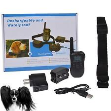 US/EU Waterproof Shock Vibrate LCD Remote Rechargeable Dog Training Collar GBNG