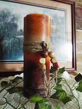 A THREE LAYER VARIEGATED PILLAR CANDLE-HIGHLY SCENTED-U PICK COLORS & FRAGRANCE
