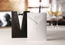 Classic Gown & Tux On Different Side Wedding Invitation Cards WI1033