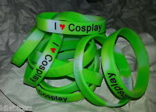 Exclusive I Love Cosplay Glow in the dark silicone wrist band bracelet