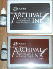 Ranger Jumbo Archival Ink Pad + Optional Reinker Acid-free Permanent Waterproof