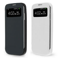 4500mAh Extended Backup Battery S-View Flip Case For Samsung Galaxy S4 S IV NEW