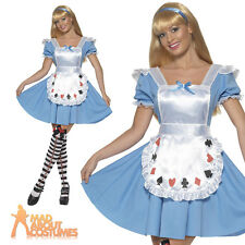 Adult Alice In Wonderland Costume Cards Girl Womens Ladies Fancy Dress UK 8-18