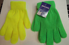 1 Pair Magic Gloves in Neon Green or Neon Yellow  New