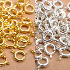40pcs Metal BOLT RING CLASPS Gold & Silver Plated Copper Bronze Choose - 6MM 7MM
