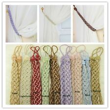 A Pair Vintage Knitted Curtain Rope Buckle Decorative Tiebacks 9 Colors LJN