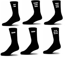 Black Luxury Cotton Rich Wedding Socks, Groom, Best Man, Usher