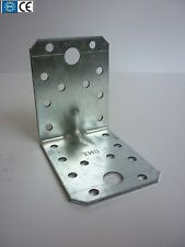 70mm HEAVY DUTY REINFORCED GALVANISED ANGLE BRACKETS CORNER BRACE JOINTS TIMBER