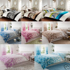 Reversable Duvet Cover With Pillow Case Bedding Set Quilt Cover 4 Sizes