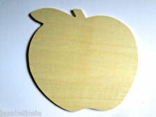 Wooden Shape large Apple Pack of 2 or 4 Wood Embellishment blank plaques