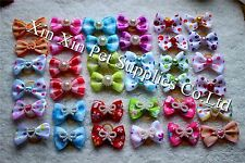 New Pet Hair Bows Mix Pearls Designs Top Dog Bows Hot Pet Grooming Products