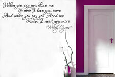 Miley Cyrus Adore you Songs Lyrics Wall Art Quote Vinyl Transfer Decal Sticker