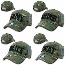 1 Dozen Army Marines Police SWAT Camouflage Military Law Caps Hats Wholesale