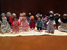 """The Children's Group Wooden/Bendy Dollhouse 4"""" Dolls-Choose The Family You Want"""