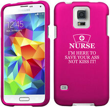 For Samsung Galaxy S4 S5 2 Piece Rubber Hard Case Cover Nurse Here To Save You