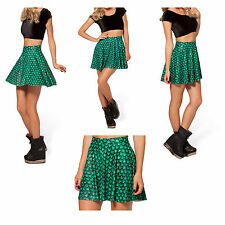 Green Mermaid Scales Beachwear Stretchy Skater Mini Skirt S/M/L U Pick Xmas Gift