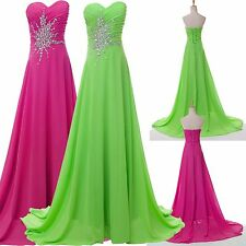 New Sequins Beaded Long Dress Evening/Formal/Party/Prom Dresses 2 4 6 8 10 12 14
