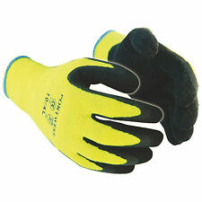 12 x Hi Vis Cold Store / Freezer / Thermal Grip Safety Work Gloves
