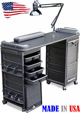 MANICURE NAIL TABLE B606 DOUBLE LOCKING CABINETS CHOICE OF TOP COLOR DINA MERI
