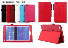 PU Leather Folio Folding Stand Case Smart Flip Cover for Lenovo ThinkPad 8 8.3""
