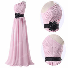 Gorgeous Long Pageant Light Pink Chiffon Party Cocktail Prom Dress US Size 2-16