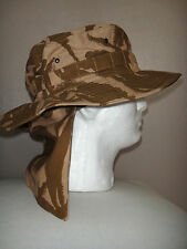 British Army Desert camouflage Combat Boonie hat with removable neck cover New