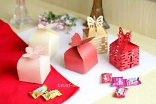 100pc Candy Color Butterfly&double happiness Favor Gift Box Case Wedding Supply