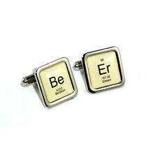 Stag Do, Wedding Beer Periodic Table Beer Lager Cufflinks with Personalised Engr