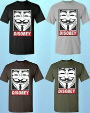 Disobey * T-SHIRT * V for Vendetta tees Guy Fawkes remember the 5th of November