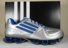 New Mens Adidas Nitro FB Bounce Running Shoes Silver Blue G96679 ambition