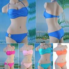Sexy Women Bikini Set Bandage Swimwear Push-up Padded Bra Top Bottom Beach suit