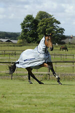Bucas Light Blue UV Protection Buzz-Off Full Lightweight Horse Fly Rug/Sheet