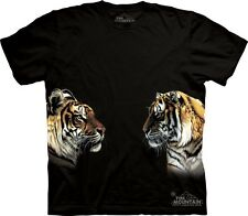 Face Off T-Shirt by The Mountain. Tigers Big Cat Wildlife Sizes S-5XL NEW