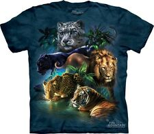 Big Cats Jungle T-Shirt by The Mountain. Lion Tiger Leopard Panther Puma S-5XL