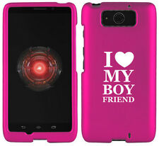 For Motorola Droid MAXX / ULTRA Rubber Hard Case Cover I Love My Boyfriend