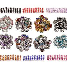 8mm Rondelle For Basketball Wives Earring Acrylic Crystal Rhinestone Beads 100PC
