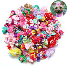 On Sales Pet Hair Bows Mix Pearls Diamand Top Dog Bows Hot Pet Grooming Products
