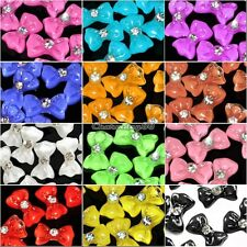 20x Acrylic 3D Bow Tie Glitters Stickers Beads Nail Art Tips DIY Decoration C1MY