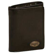 Fossil ML3222 Mens Genuine Leather Estate Zip Trifold Wallet ID Window