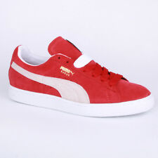 Puma Suede Classic 352634 05 Unisex Laced Suede Trainers Shoes Red White