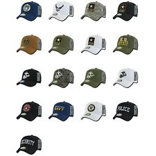 Army Air Force Navy Marines Police Security COTTON Baseball Hats Hat Cap Caps