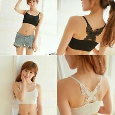 Ladies Modal Suspender Sexy Vest Bra Back Hollow Big Butterfly Embroidery Camis