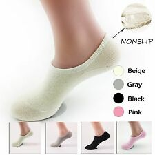 5 10 Pair Lot Womens Invisible No Show Nonslip Loafer Liner Cotton Socks Footlet