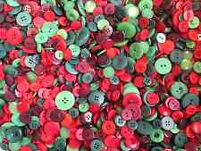 BAG ASSORTED MIXED CHRISTMAS COLOURS MIXED BUTTONS XMAS BUTTONS